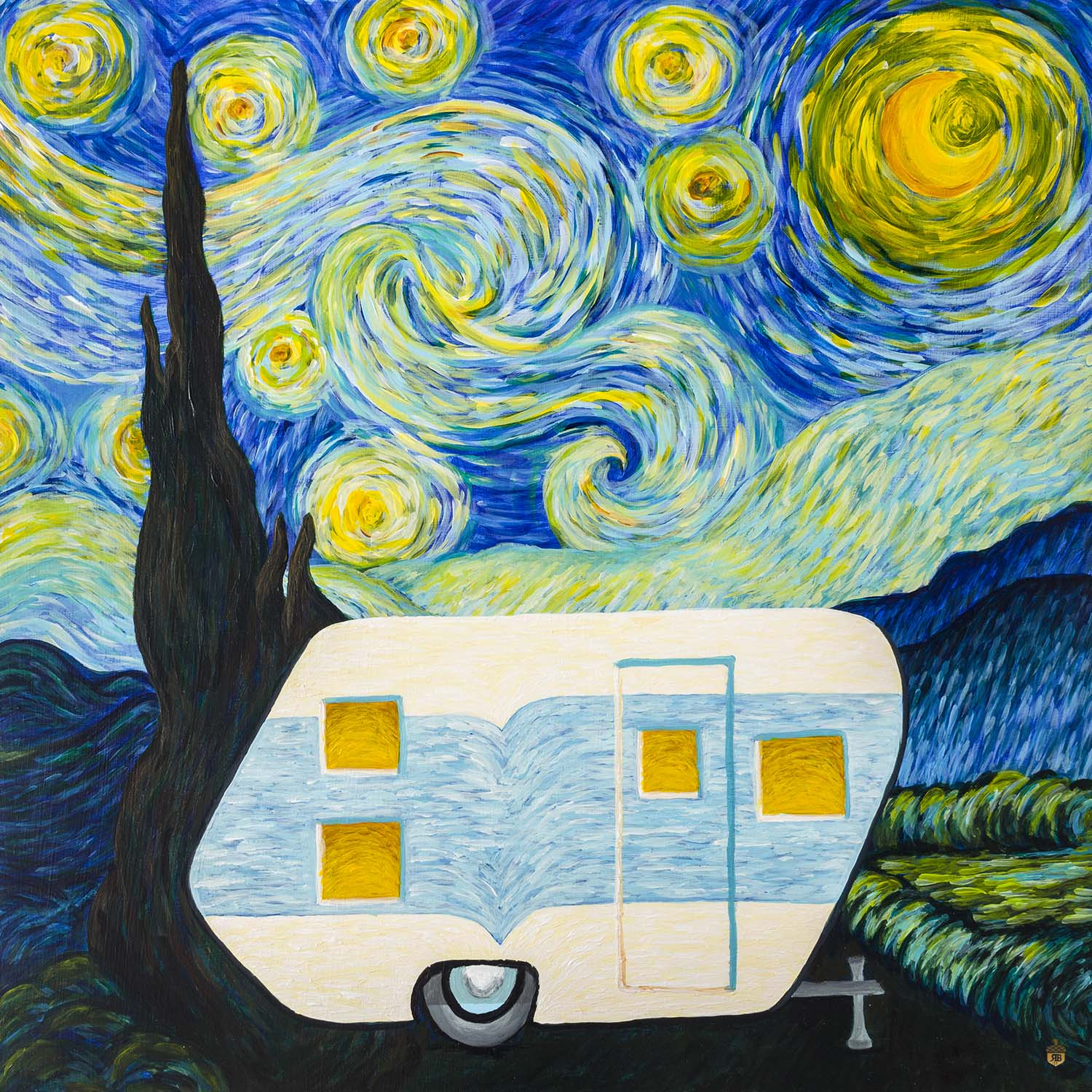 Its A Vintage Starry Starry Night Painting